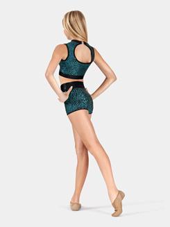 Girls Sequin High Waist Shorts