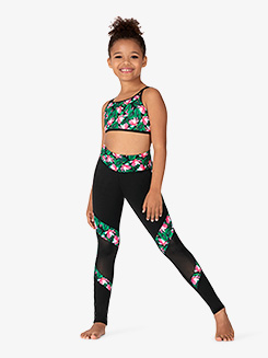 Girls Magnolia Memories Contrast Panel Dance Leggings