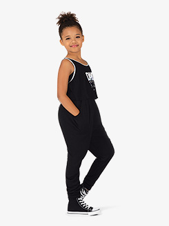 Girls Dance Print Tank Dance Top