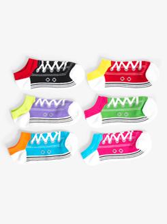 Womens Low Cut Shoe Print Dance Socks