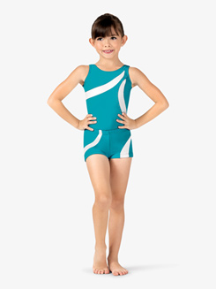 Girls Contrast Striped Gymnastics Shorts