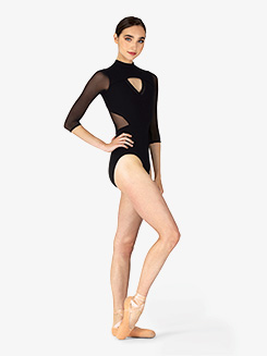 Womens Ligia Mock Neck 3/4 Sleeve Leotard