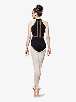 Womens Vine High Neck Halter Leotard