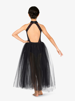 Girls Ballet Halter Romantic Tutu Dress