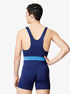 Mens Eduard Microfiber Two-Tone Tank Shorty Unitard