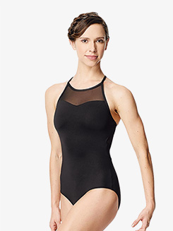 Womens Senna Netted Crisscross Back Camisole Leotard