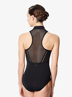 Womens Rufina Netted Front Cutout Tank Leotard