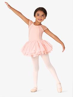 Girls Velvet Back Cutout Tank Ballet Tutu Dress