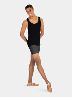Mens Mid-Thigh Dance Shorts