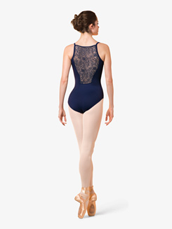 Womens Juliet Floral Lace Camisole Leotard