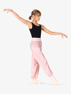 Girls Wide Waistband Ripstop Dance Pants
