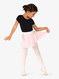 Girls Velvet Waistband Pull-On Ballet Skirt