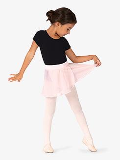 Girls Velvet Waistband Pull-On Ballet Skirt