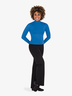 Womens Back Cutout Long Sleeve Dance Top