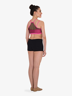 Womens Mesh Racerback Dance Bra Top