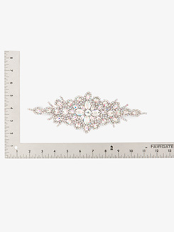 Iron On AB Crystal Rhinestone Applique