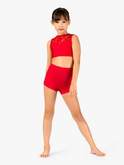 Child Emballe High Waist Dance Shorts