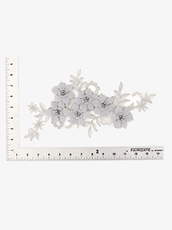 3D Floral Beaded Sew On Applique