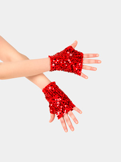 Adult Fingerless Sequin Mitts