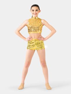 Child Side Stripe Sequin Shorts