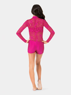 Adult Emballe Lace Long Sleeve Shorty Unitard