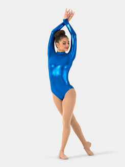 Adult Metallic Long Sleeve Leotard