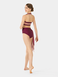 Adult Emballe Two-Tone Mesh Drape Briefs