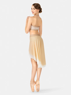 Adult Emballe Draped Front 2-Tone Mesh Skirt