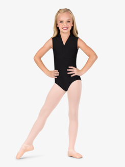 Girls Lace Back High Neck Tank Ballet Leotard
