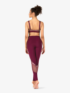 Womens Matte Metallic Performance Leggings