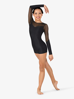 Womens Performance Mesh Sweetheart Shorty Unitard