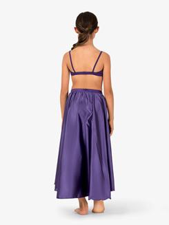 Girls Performance Satin Asymmetrical Skirt