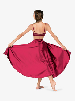 Womens Performance Satin Camisole Bra Top