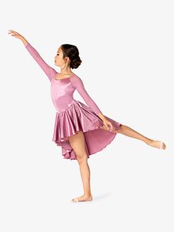 Womens Performance Satin Open Back Long Sleeve Dress