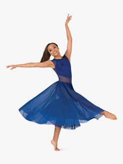 Womens Performance Mesh Cap Sleeve Dress
