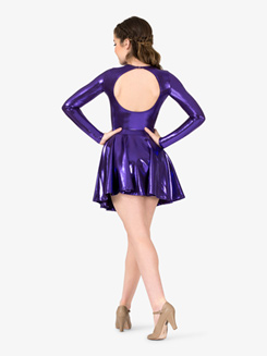 Adult Long Sleeve Metallic Leotard