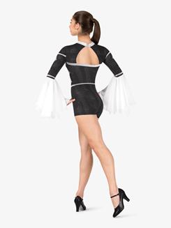 Womens Performance Jester Long Sleeve Printed Shorty Unitard