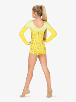 Womens Performance Belle of the Ball Princess Printed Shorty Unitard