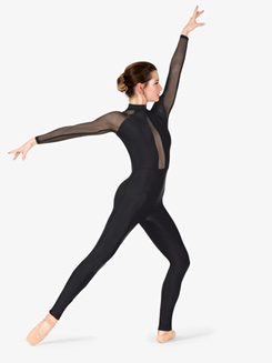 Womens Performance Mesh Long Sleeve Unitard