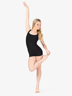 Womens Crisscross Tank Shorty Unitard
