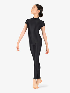 Girls Performance Crisscross Short Sleeve Unitard