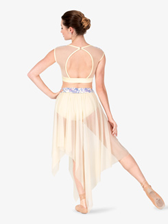 Womens Performance Aria Sequin Short Sleeve Crop Top