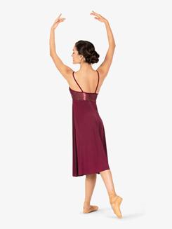 Womens Plus Size Performance Swirl Sequin Mid-Length Dress