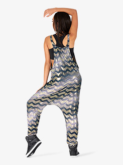 Womens Performance Chevron Print Tank Jumpsuit