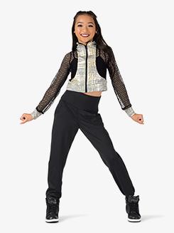 Girls Performance Mock Neck Zip Up Jacket