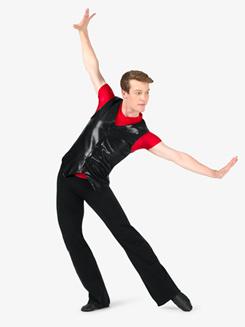Mens Metallic V-Front Performance Vest