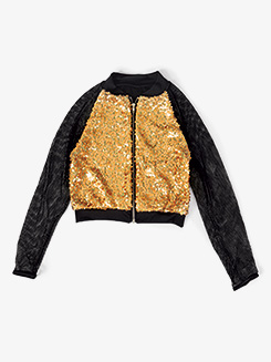 Girls Performance Sequin Zip Up Jacket