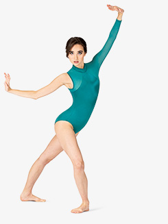 Womens Performance Satin One Sleeve Leotard