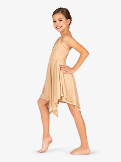 Girls Glitter High-Low Lyrical Dress