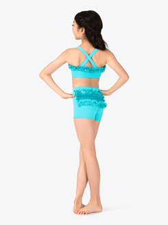 Child Dance Short with Lace Ruffles